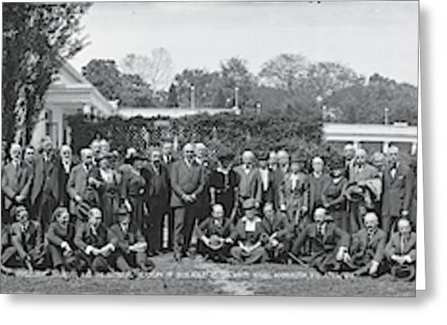 Group Including Einstein And Harding Greeting Card
