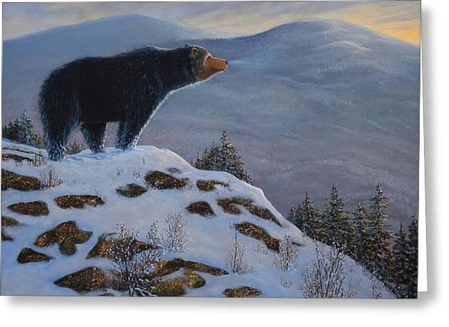 Last Look Black Bear Greeting Card by Frank Wilson