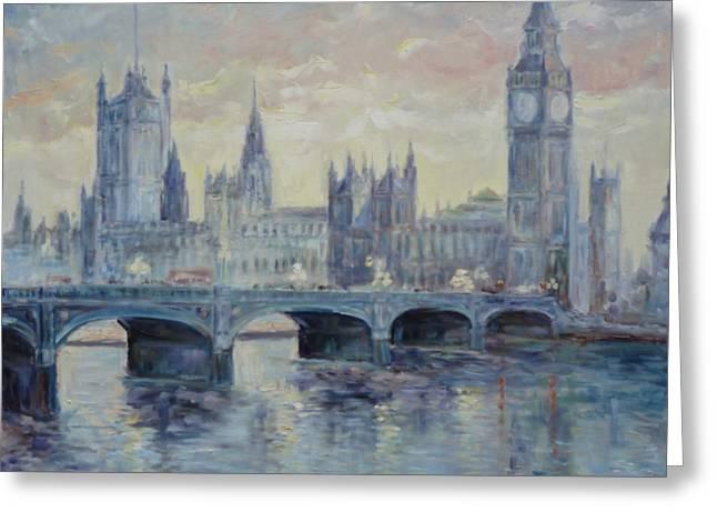 London Westminster Bridge Greeting Card by Irek Szelag