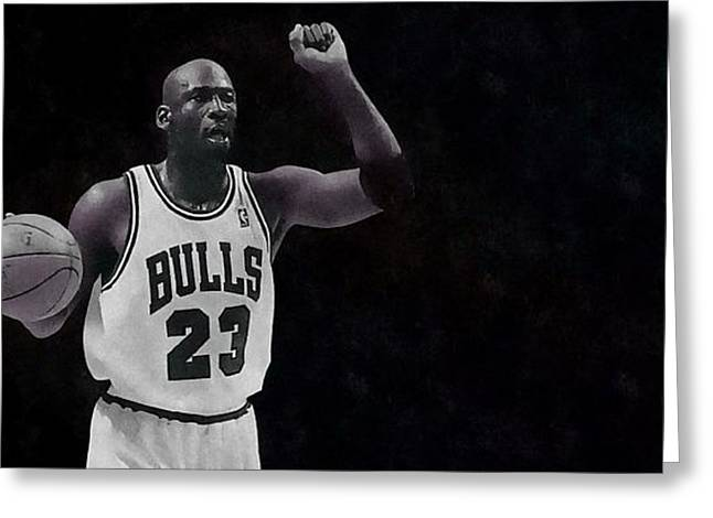 Michael Air Jordan Greeting Card