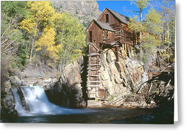 Mill At Crystal River Valley, Autumn Greeting Card by Panoramic Images