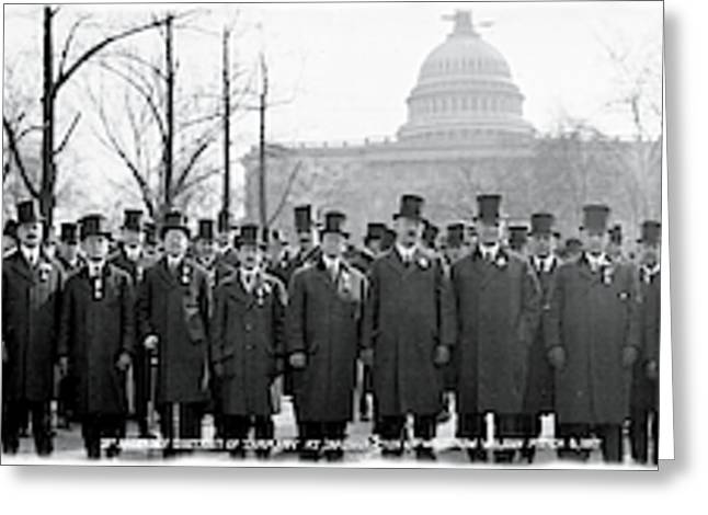 Tammany Democrats Washington Dc Greeting Card by Fred Schutz Collection