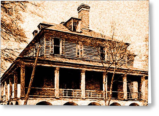 Greeting Card featuring the digital art This Old House by Chuck Mountain
