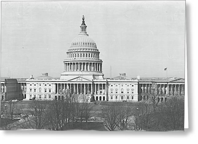 Us Capitol Washington Dc 1916 Greeting Card