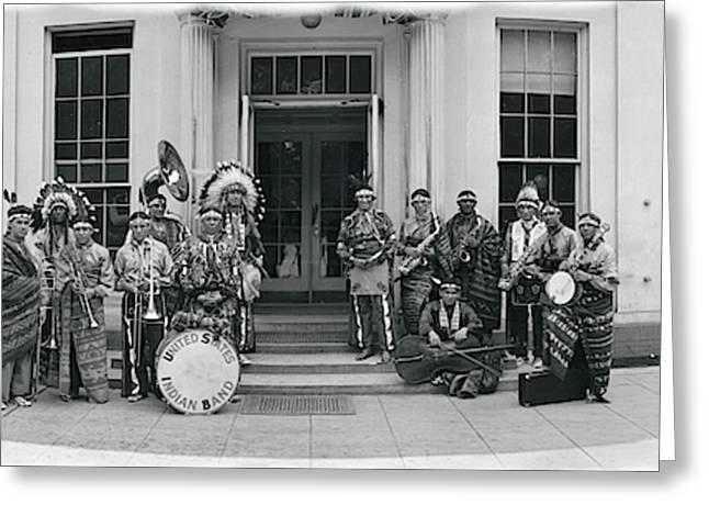 Us Indian Band Washington Dc Greeting Card
