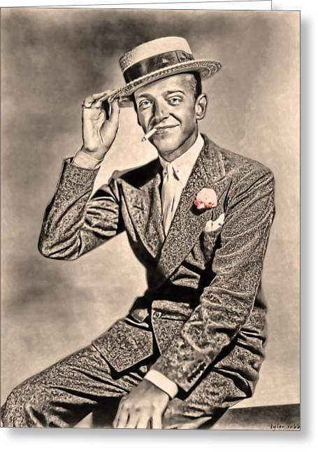 Greeting Card featuring the painting Young Mr.astaire by Tyler Robbins