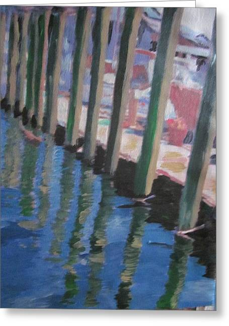 The Dock Greeting Card by David Poyant