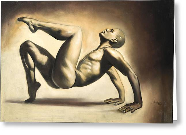 Dancer Greeting Card by L Cooper