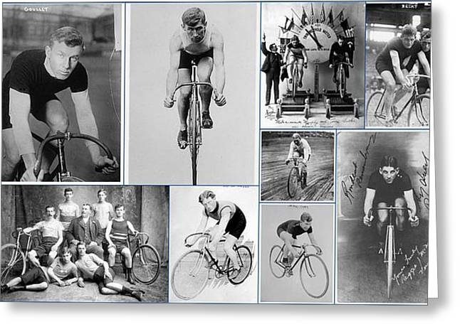 Early 20th Century Bike Racers  Greeting Card by Don Struke