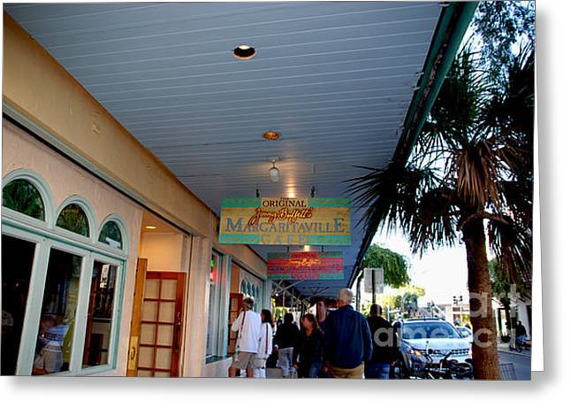 Jimmy Buffet's Margaritaville Key West Greeting Card by Susanne Van Hulst
