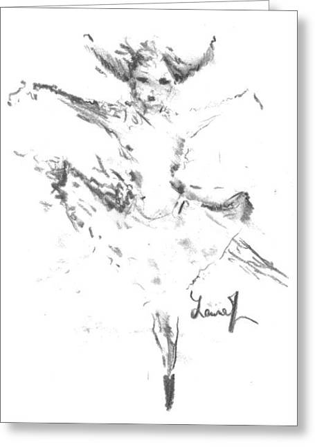 Movement Of Dance Greeting Card by Laurie L