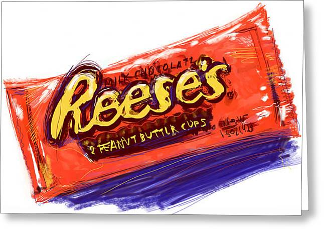 Peanut Buttery Goodness Greeting Card by Russell Pierce