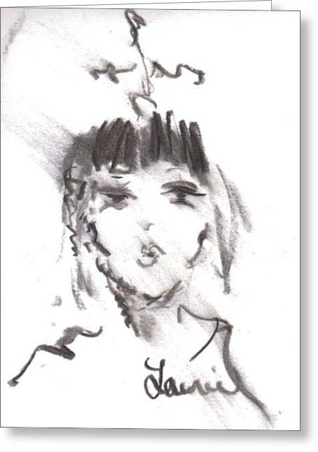 Queen Of Kisses Greeting Card by Laurie L