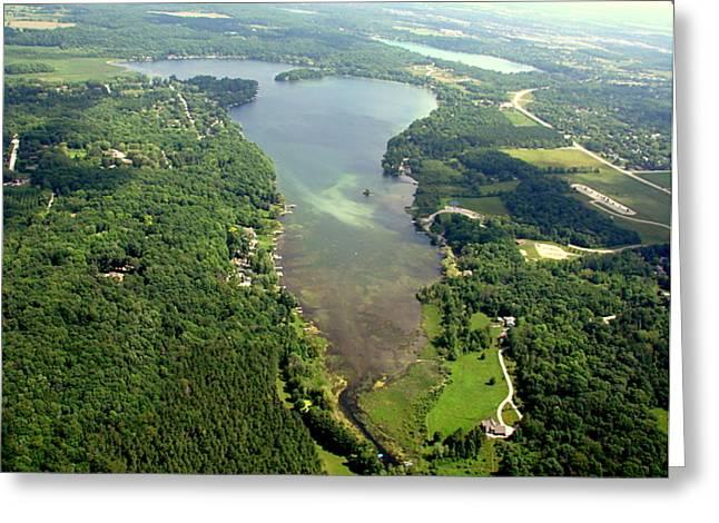 Greeting Card featuring the photograph  C-013 Cedar - Little Cedar Lake Wisconsin by Bill Lang