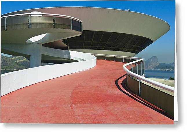 Contemporary Art Museum Niteroi Brazil Greeting Card by George Oze