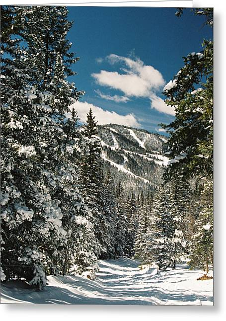 Fresh Powder Greeting Card