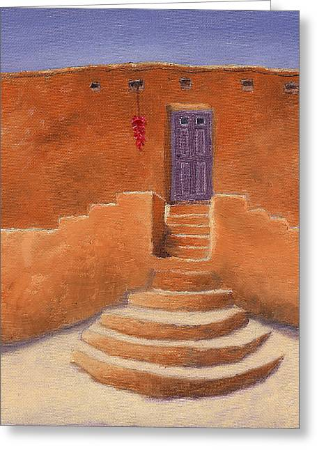 Acoma Steps Greeting Card by Jerry McElroy