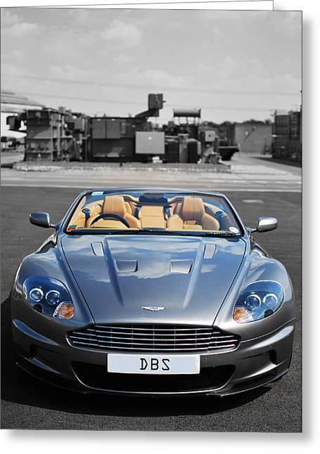 Aston Martin Dbs Greeting Card by Yhun Suarez