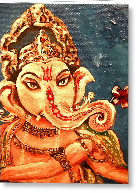 Ganesh Greeting Card by Sabrina Phillips
