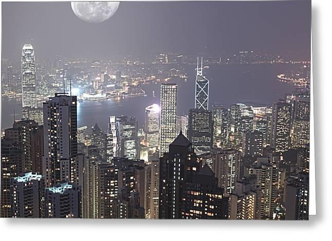 Hongkong Greeting Card by MotHaiBaPhoto Prints