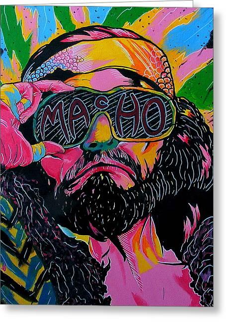 Macho Man Greeting Card by Brian Typhair