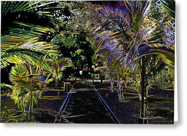 Greeting Card featuring the digital art Night In Mexico by Tammy Sutherland