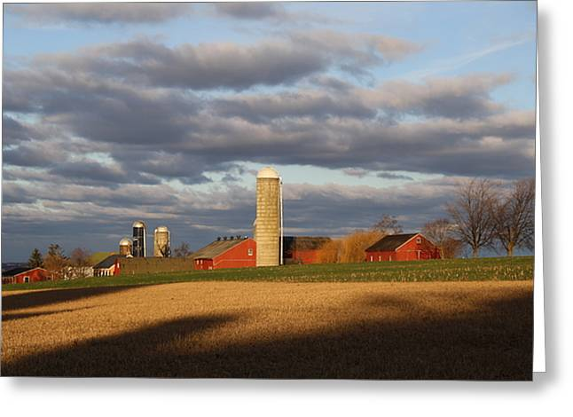 Shades Of Evening Greeting Card by Doug Hoover