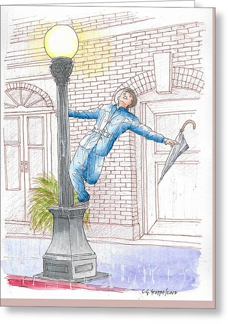 Gene Kelly In Singing In The Rain, 1952 Greeting Card