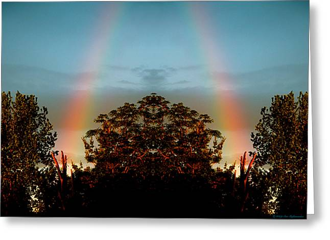 The Rainbow Effect Greeting Card by Sue Stefanowicz