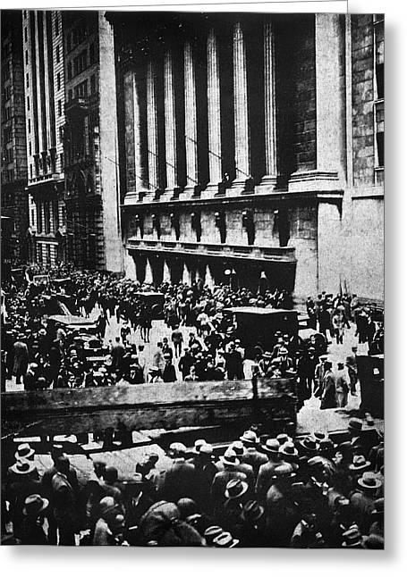 Wall Street Crash 1929 Greeting Card by Granger
