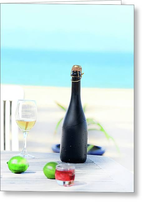 Wine  Greeting Card by MotHaiBaPhoto Prints