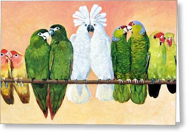 14 Birds On A Stick Greeting Card