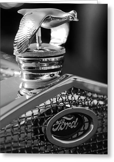 1930 Ford Quail Hood Ornament 3 Greeting Card