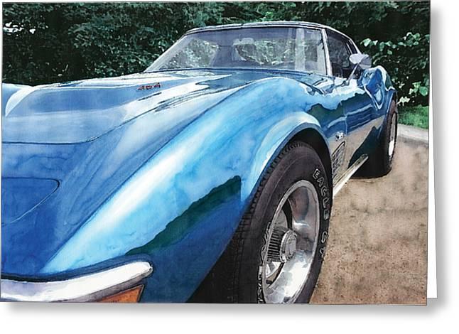 1972 Corvette Greeting Card by Rod Seel