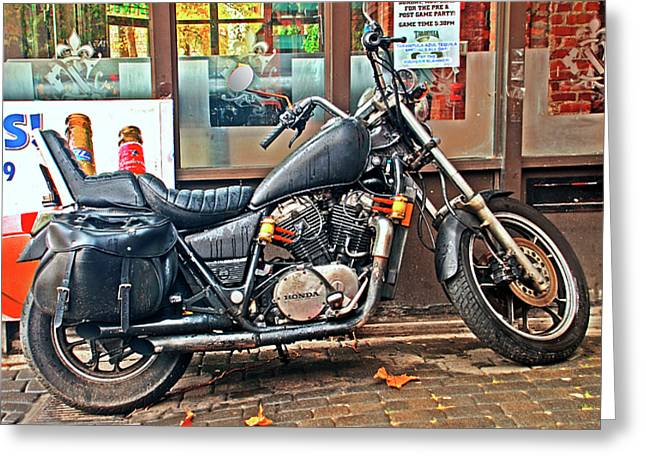 1983 Vt750 C Honda Shadow Greeting Card by Greg Sigrist