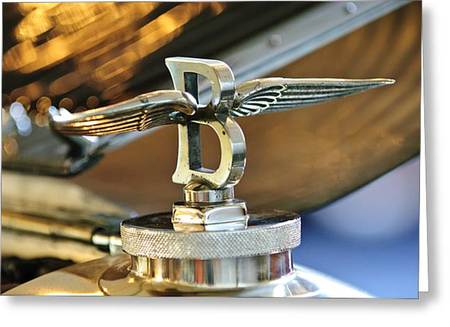 1927 Bentley 6.5 Litre Sports Tourer Hood Ornament Greeting Card by Jill Reger