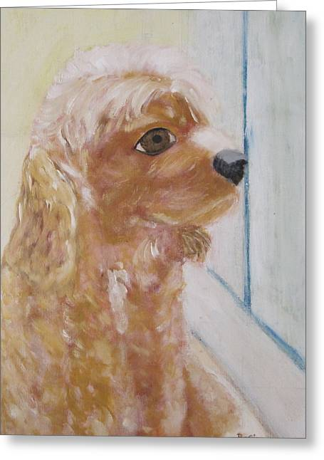 Rusty Aka Digger Dog Greeting Card by Patricia Cleasby