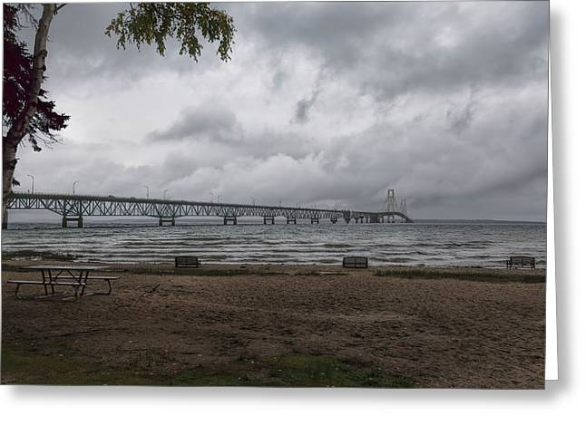 Greeting Card featuring the photograph Straits Of Mackinac by John M Bailey