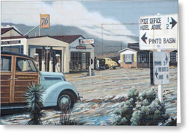 29 Palms Flood Mural Greeting Card by Bob Christopher