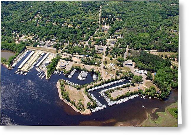 Greeting Card featuring the photograph A-005 Afton Minnesota Harbors by Bill Lang