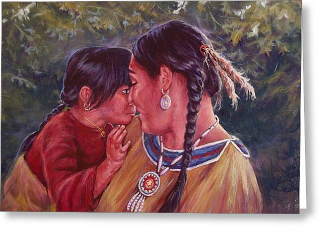 A Mother's Love Greeting Card by Ed Breeding