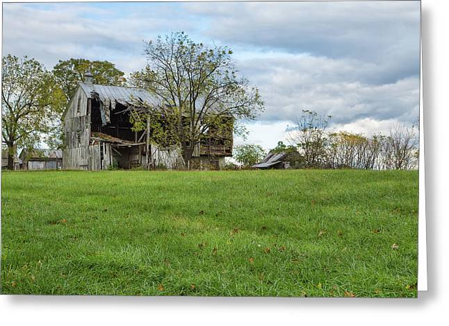 Greeting Card featuring the photograph A Tired Old Barn by John M Bailey