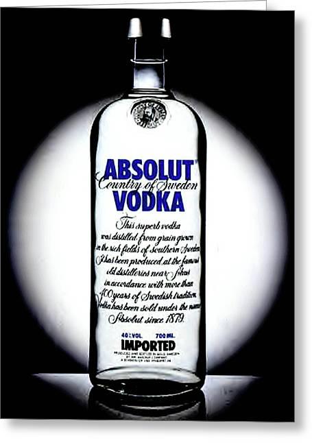 Absolut Vodka Greeting Card by Luis Ludzska
