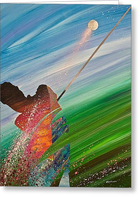 Abstract Golf Greeting Card