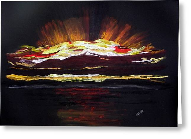 Almost Sunrise Greeting Card by Diane Frick