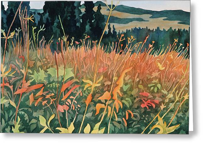 Alpine Autumn Greeting Card by Anne Havard