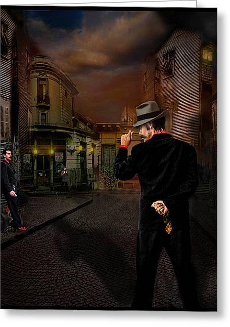 Another Night Of Tango Greeting Card by Raul Villalba