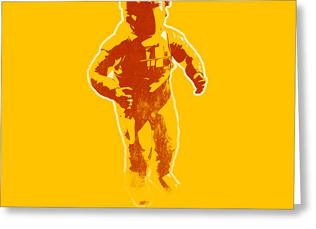 Astronaut Graphic Greeting Card by Pixel Chimp