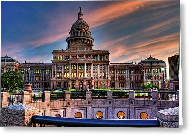Greeting Card featuring the photograph Austin Capitol by John Maffei