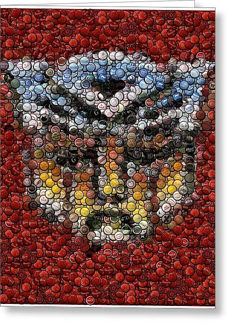 Autobot Transformer Bottle Cap Mosaic Greeting Card
